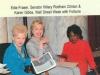 Karen Gibbs With Hillary Rodham Clinton & Edie Fraser